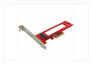 PE-152 PCIe 3.0 x4 Host Adapter for M.3 NGSFF NF1 NVMe 110mm SSD