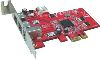1394B &amp; 1394a Combo 3Ports Low Profile PCI Express Host Adapter (TI chipset)