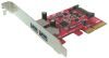 USB3.1 10Gbps Superspeed+ Low Profile PCIe x4 Host Adapter