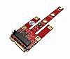 B-Key M.2 WWAN Module (USB2.0, PCIe x1, SATA signals) to miniPCIe Motherboard