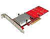 Dual PCIe NVMe M.2 SSDs Carrier Adapter