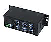 12-Port USB 3.0 Hub with Metal Case