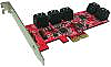 10Ports AHCI 6Gbps SATA III Low Profile PCIe 2.0 Host Adapter